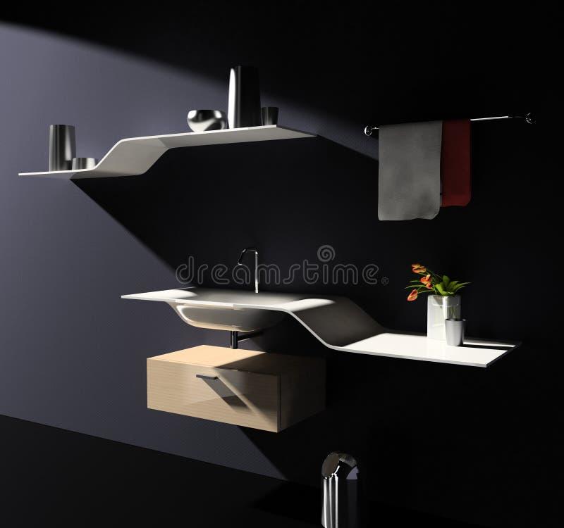 ванная комната самомоднейшая иллюстрация вектора