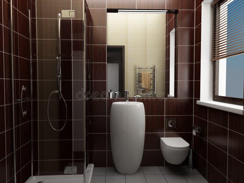 Download ванная комната самомоднейшая Стоковое Фото - изображение насчитывающей габаритно, ливень: 6861610