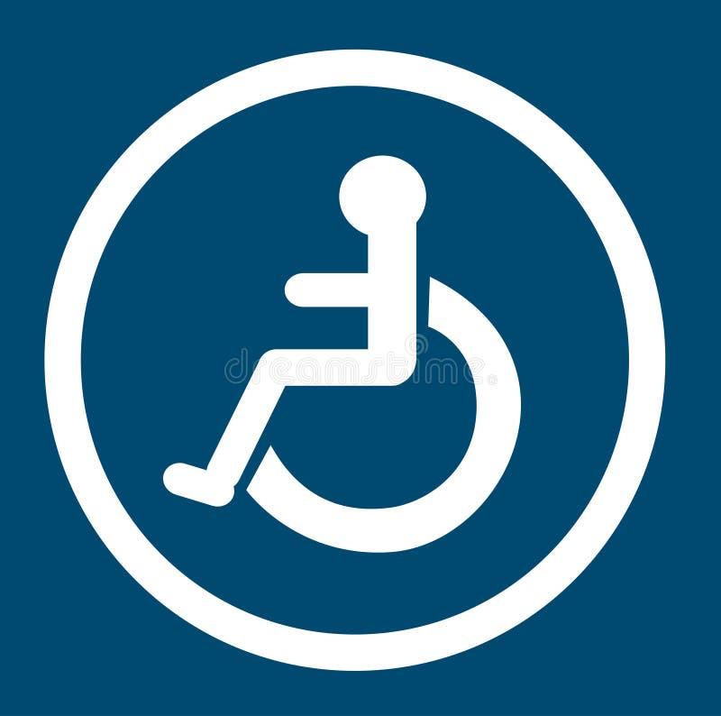 Ванная комната для людей с инвалидностью, неработающий туалет, ванная комната подписывает иллюстрация вектора