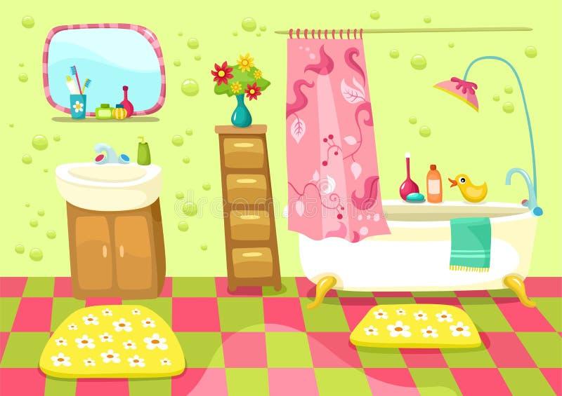 ванная комната иллюстрация штока