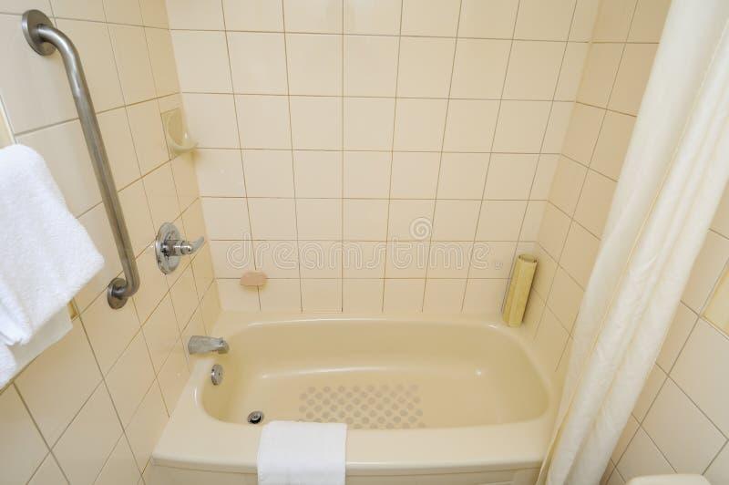 ванна вниз покрывает стоковые изображения rf