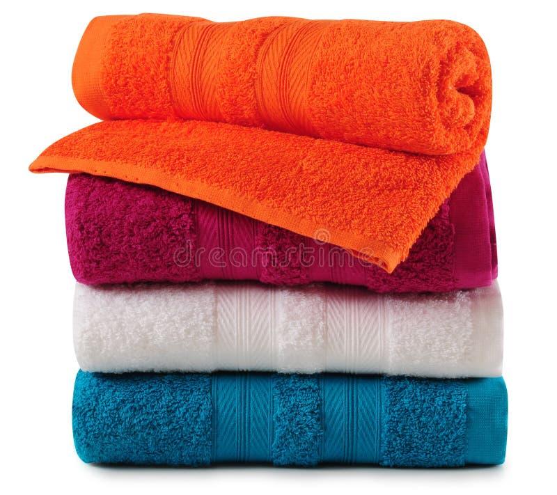 ванна изолировала полотенца стоковая фотография rf