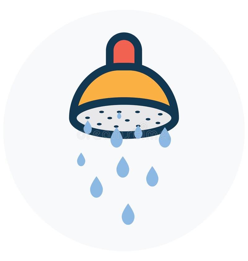 Ванна, купая изолированный значок вектора который может легко доработать или отредактировать иллюстрация штока