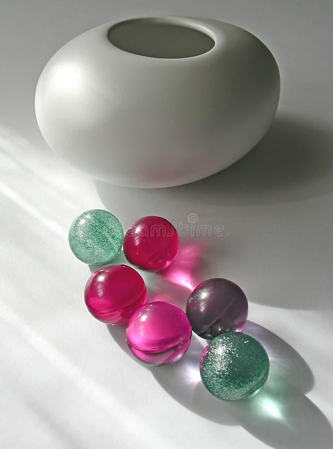 ванна мраморизует вазу Стоковые Изображения