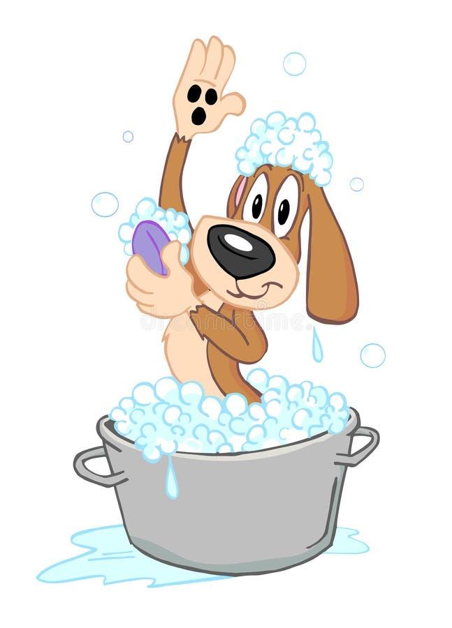 Ванна собаки бесплатная иллюстрация
