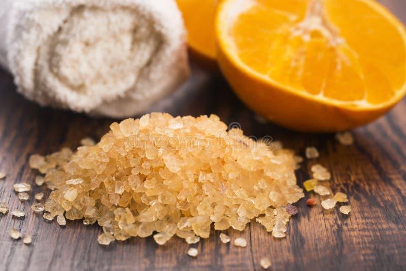 ванна fruits померанцовое соль стоковые изображения