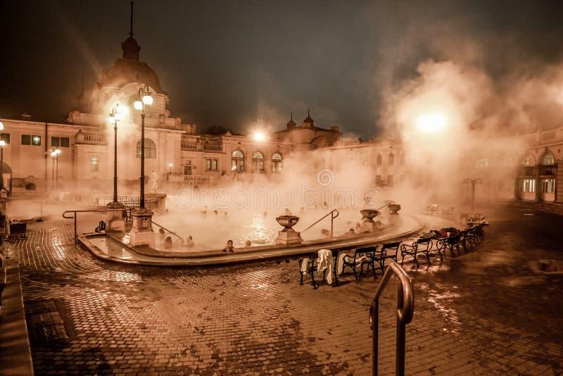 Ванна Széchenyi термальная - римские бани стоковые изображения rf