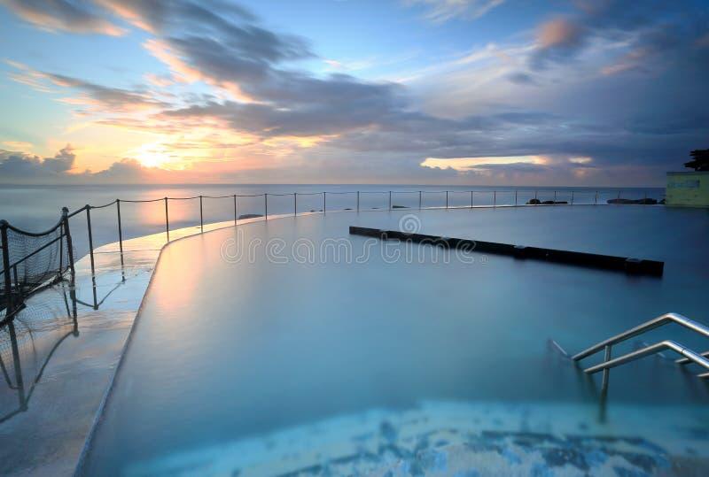 Ванны Австралия Bronte восхода солнца стоковое фото rf