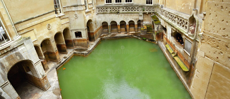 ванны Англия ванны римская стоковая фотография rf