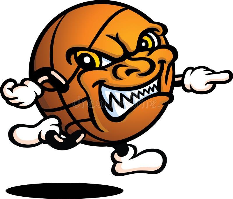 ванта зла баскетбола иллюстрация вектора