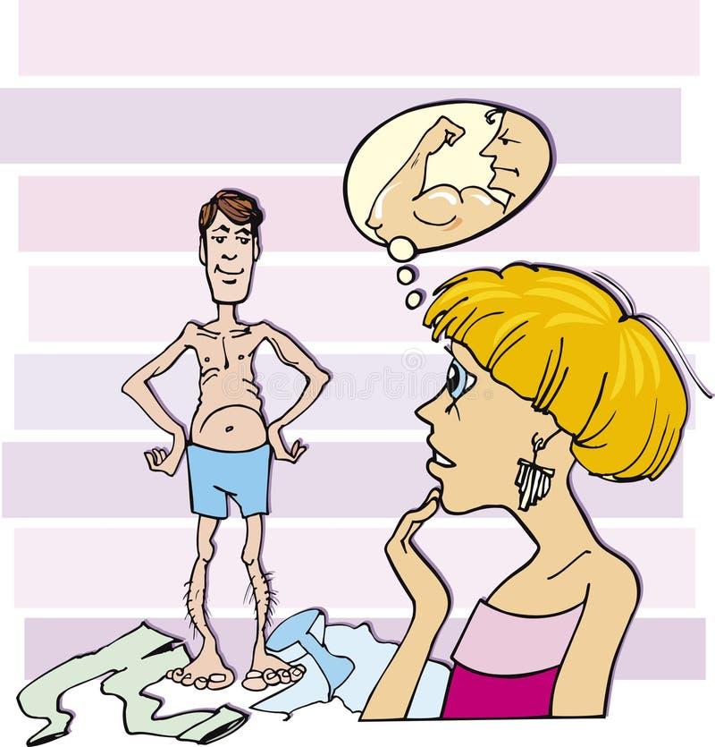 ванта утончает женщину иллюстрация штока