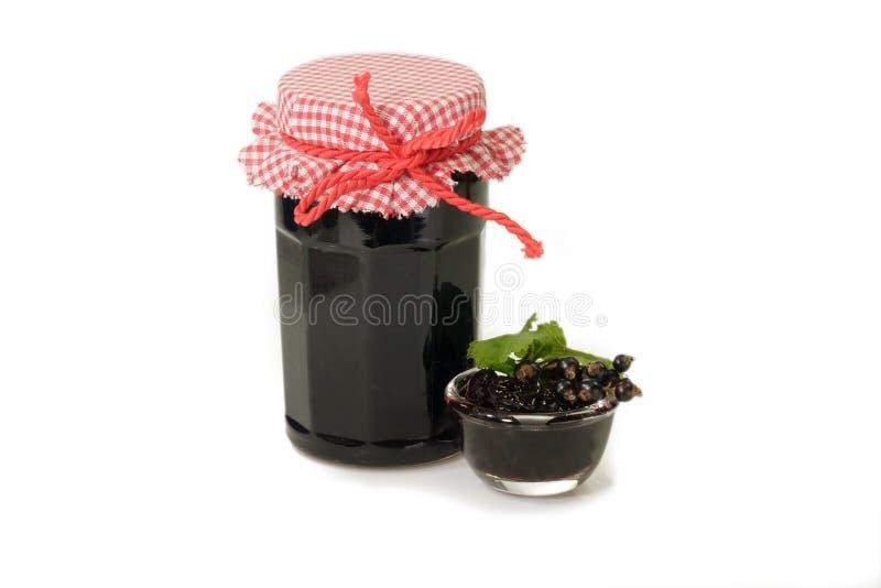 варенье черной смородины стоковое изображение