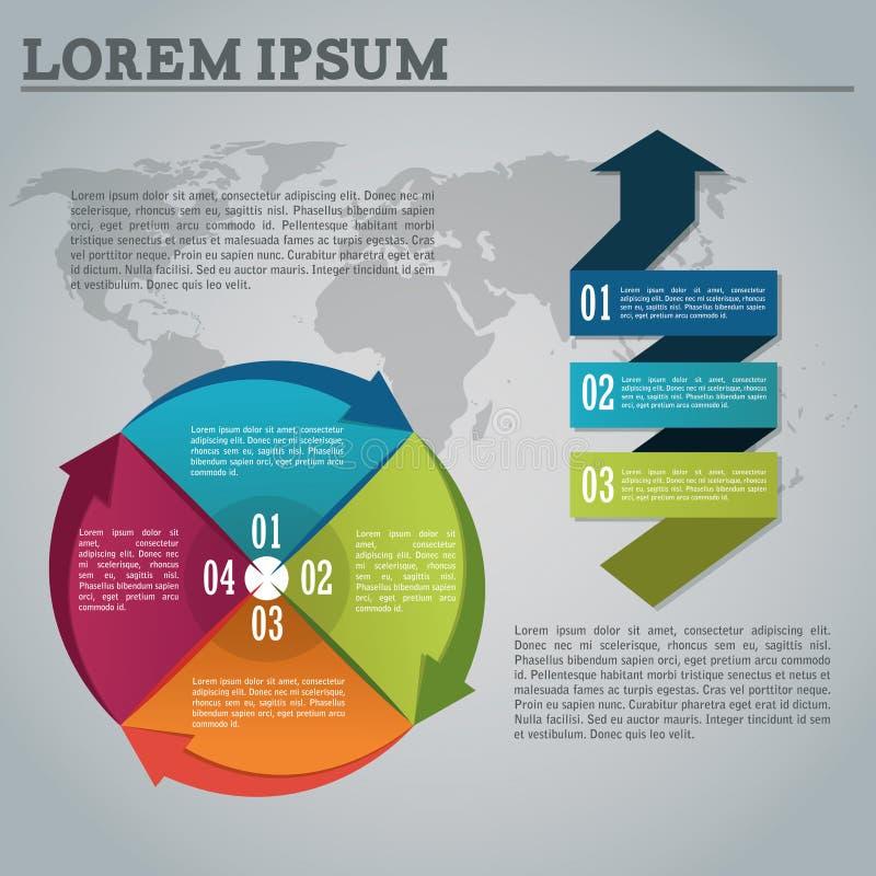 Варианты шагов и infographic дизайн иллюстрация штока