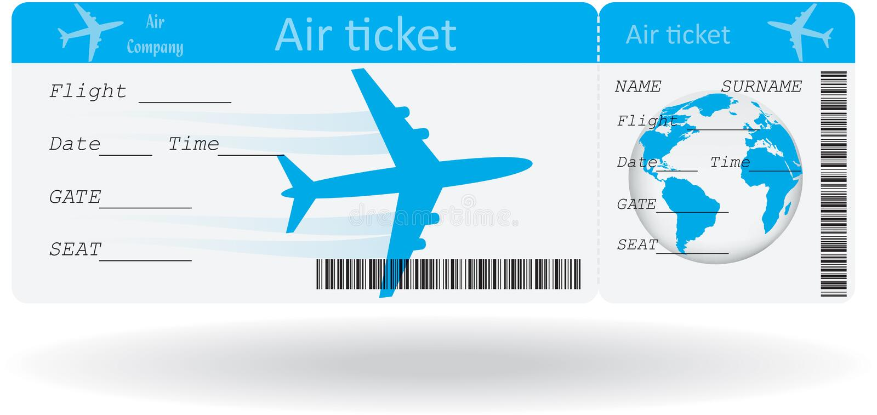 Вариант авиабилета иллюстрация вектора