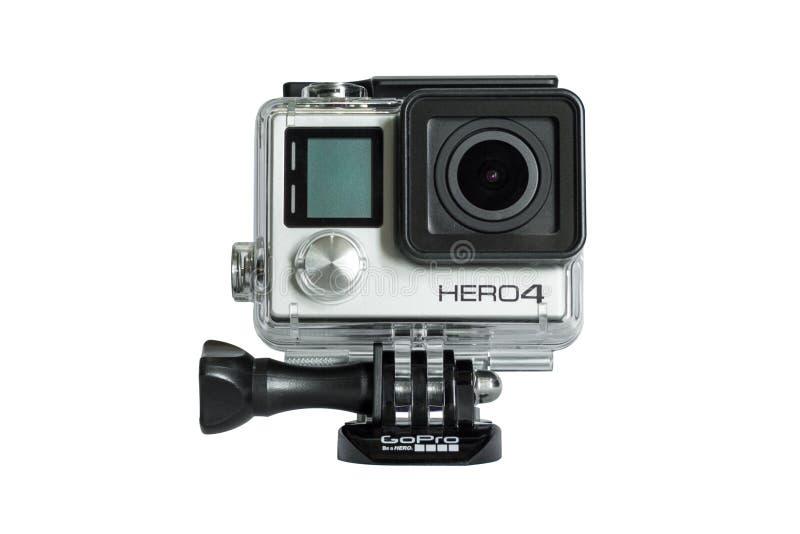 Вариант героя 4 GoPro черный изолированный на белой предпосылке стоковые фотографии rf