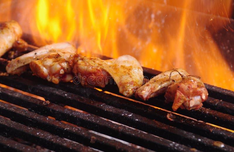 Варить барбекю крылов цыпленка Буйвол-стиля стоковые изображения rf