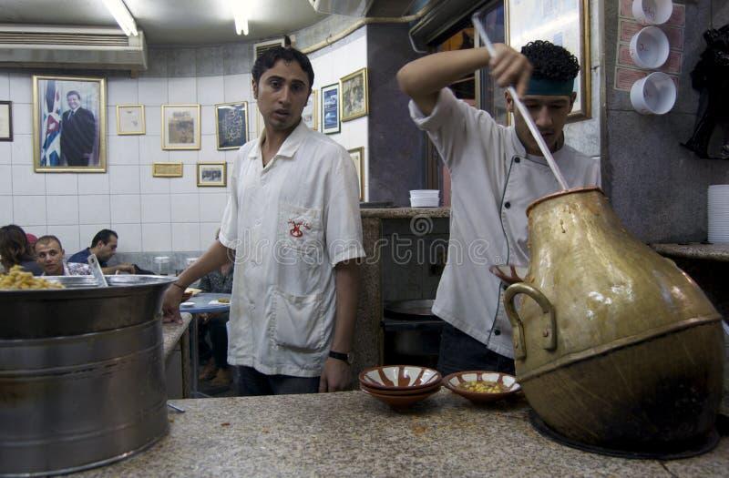 Варить еду в Иордане. стоковая фотография