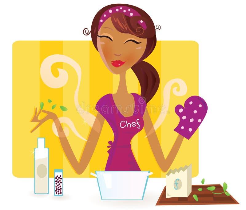 варить женщину еды кухни бесплатная иллюстрация