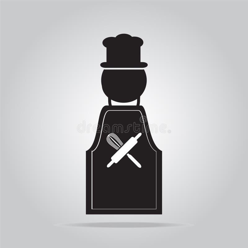 Варить знак, рисберма с знаком шеф-повара бесплатная иллюстрация