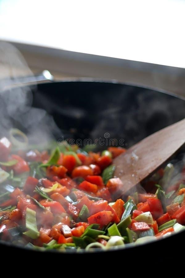 Варить овощи стоковое изображение rf