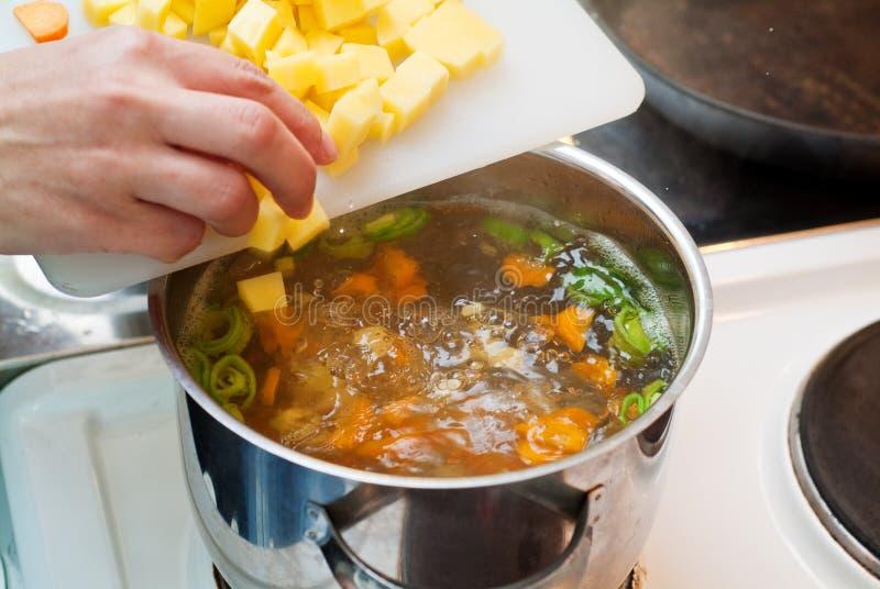 варить овощи стоковое изображение