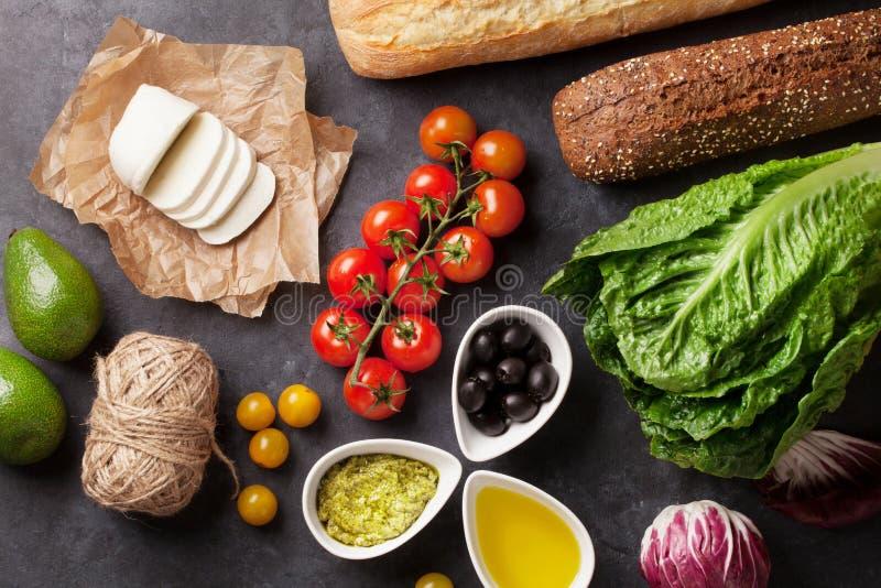 Варить сандвича Ciabatta стоковое изображение rf