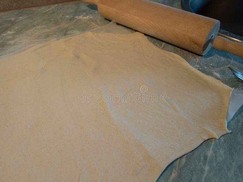 Варить сладостный ванильный puding стоковые изображения rf