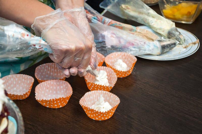 Варить cream десерт стоковые изображения rf