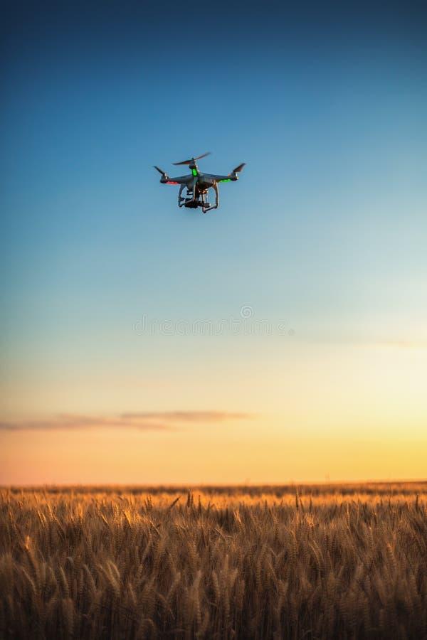 Варна, Болгария - 23-ье июня 2015: Фантом Dji quadcopter трутня летания стоковое фото