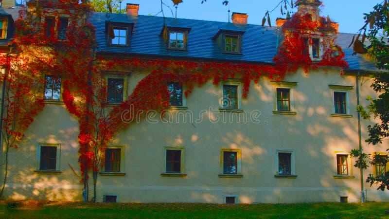 Варшава, Польша - 1-ое апреля 2019: Часть фасада жилого дома квартиры в Пол стоковая фотография rf