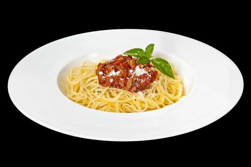 варящ ингридиенты еды итальянские bolognese спагетти стоковая фотография rf