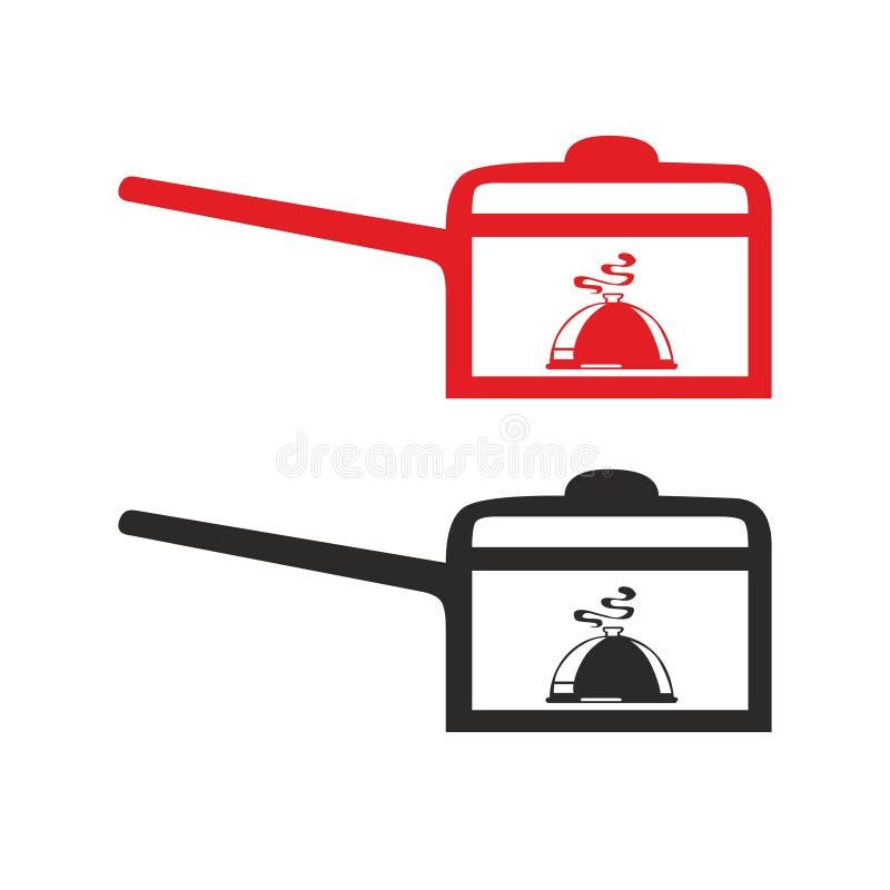 Варящ kitchenware бака символа знака значка вектора кастрюльки конструируйте элемент для сети и напечатайте иллюстрация штока