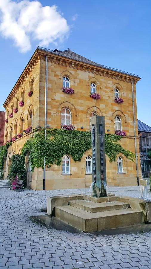 Вассертрудинген - город Баварии стоковые фотографии rf