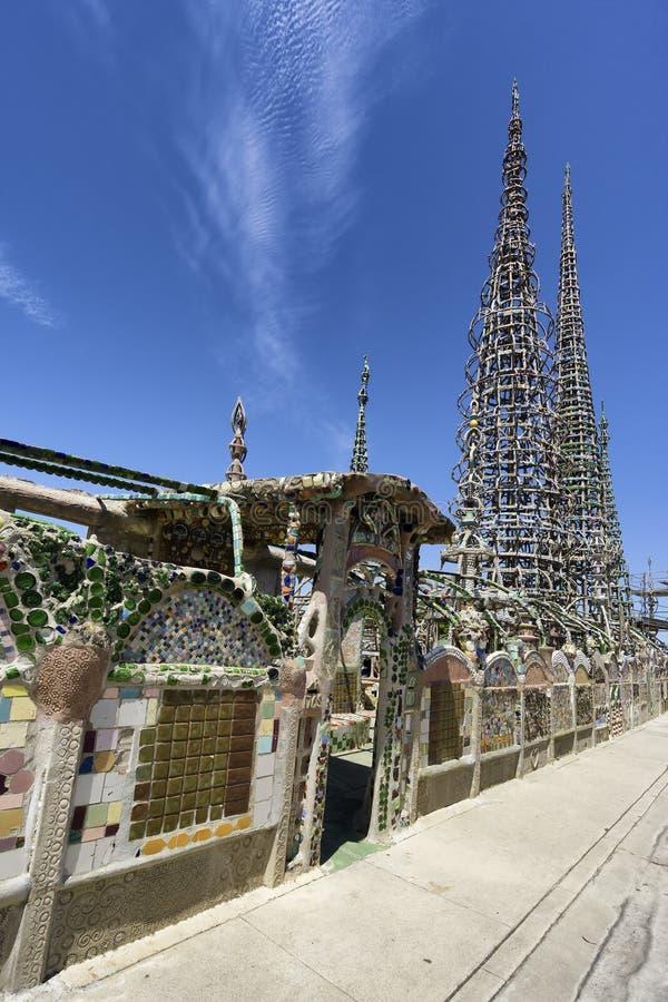 Ватты башен в Лос-Анджелесе, Калифорнии стоковое фото rf