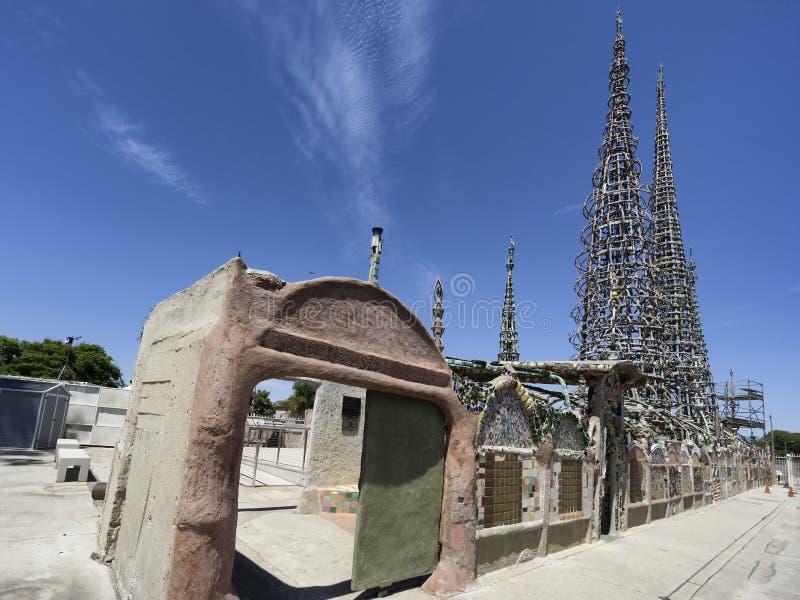 Ватты башен в Лос-Анджелесе, Калифорнии стоковые фото