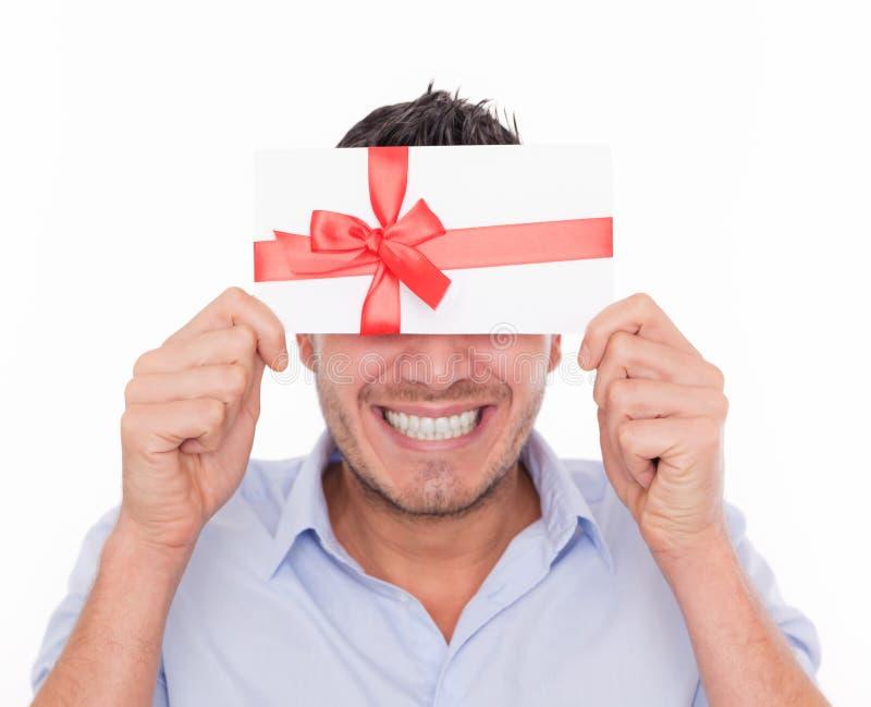 ваучер человека подарка стоковые фото