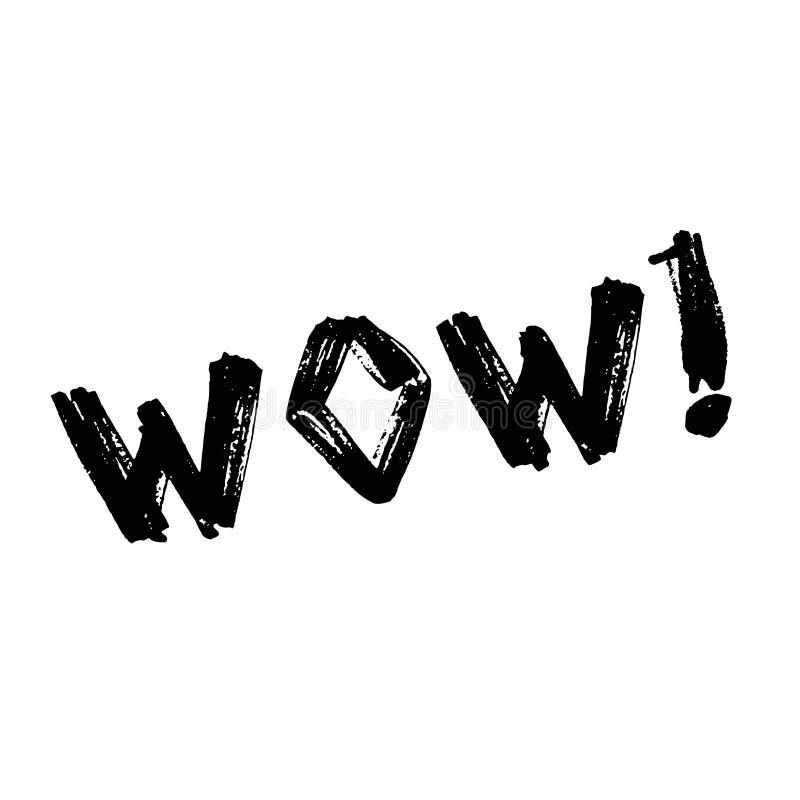 Вау литерности Шуточные шумовые эффекты текста Воздушный шар книги комиксов Фраза речи значка пузыря Ярлык шрифта шаржа исключите иллюстрация штока