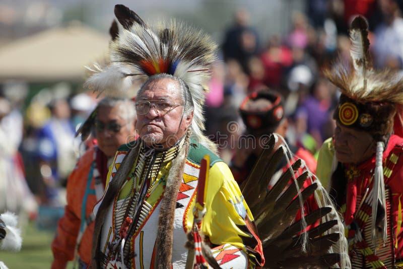 Вау Pow индейцев Сан Манюэль - 2012 стоковое фото