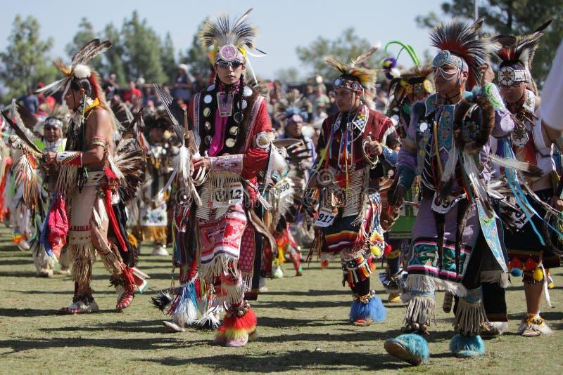Вау Pow индейцев Сан Манюэль - 2012 стоковая фотография