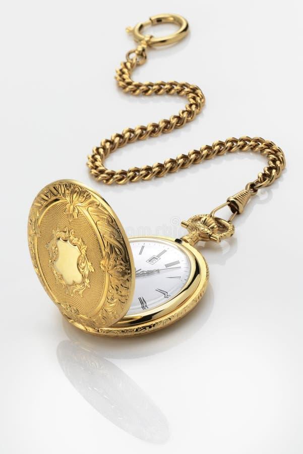 вахта взгляда античного плоского золота графический карманный стоковое фото