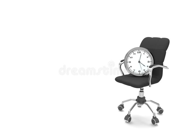 Вахта вращающееся кресло иллюстрация штока
