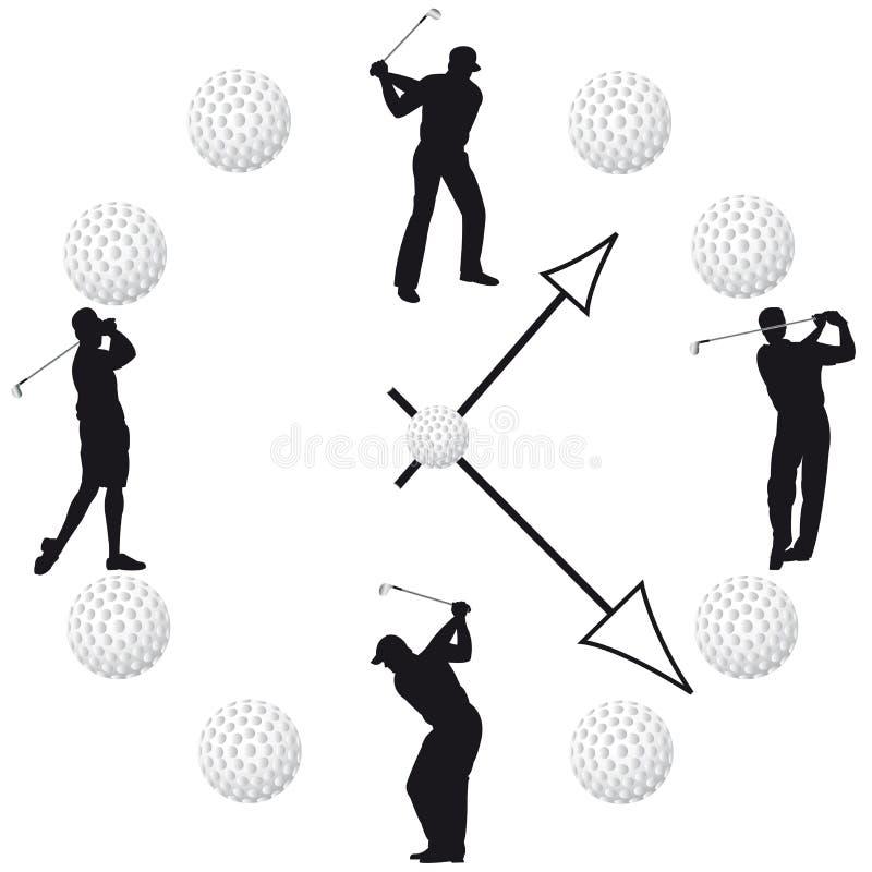 Вахта гольфа в белой предпосылке иллюстрация вектора