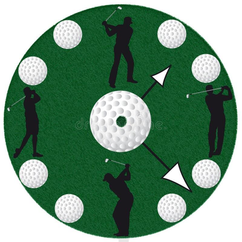 Вахта гольфа в белой предпосылке бесплатная иллюстрация