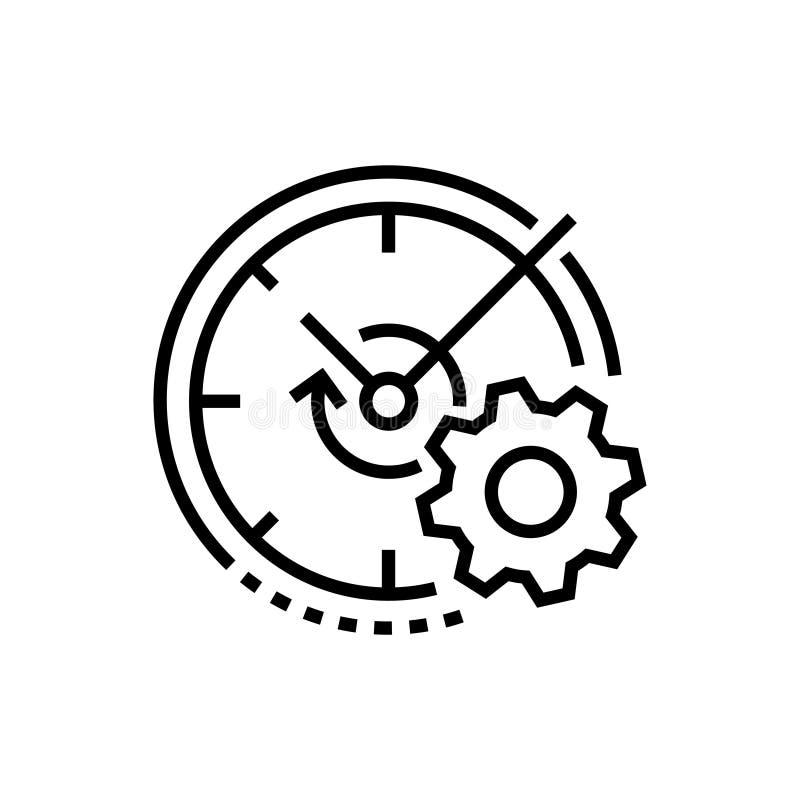 Вахта и шестерня - выровняйте значок дизайна одиночный изолированный иллюстрация вектора