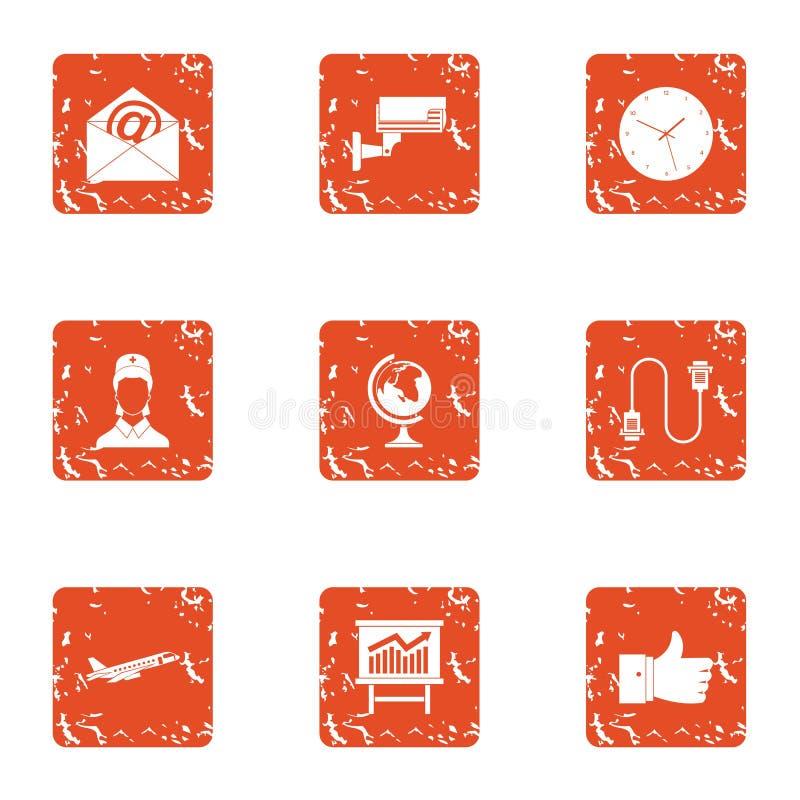 Вахта над установленными значками, стиль grunge иллюстрация вектора