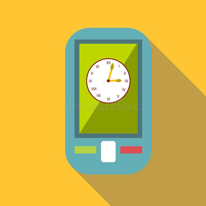 Вахта на значке мобильного телефона, плоском стиле бесплатная иллюстрация