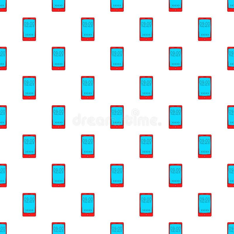 Вахта на картине мобильного телефона, стиле шаржа бесплатная иллюстрация