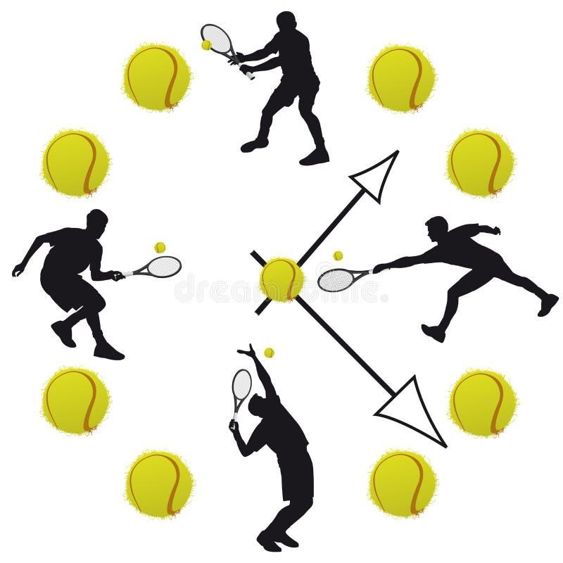 Вахта тенниса в белой предпосылке иллюстрация вектора