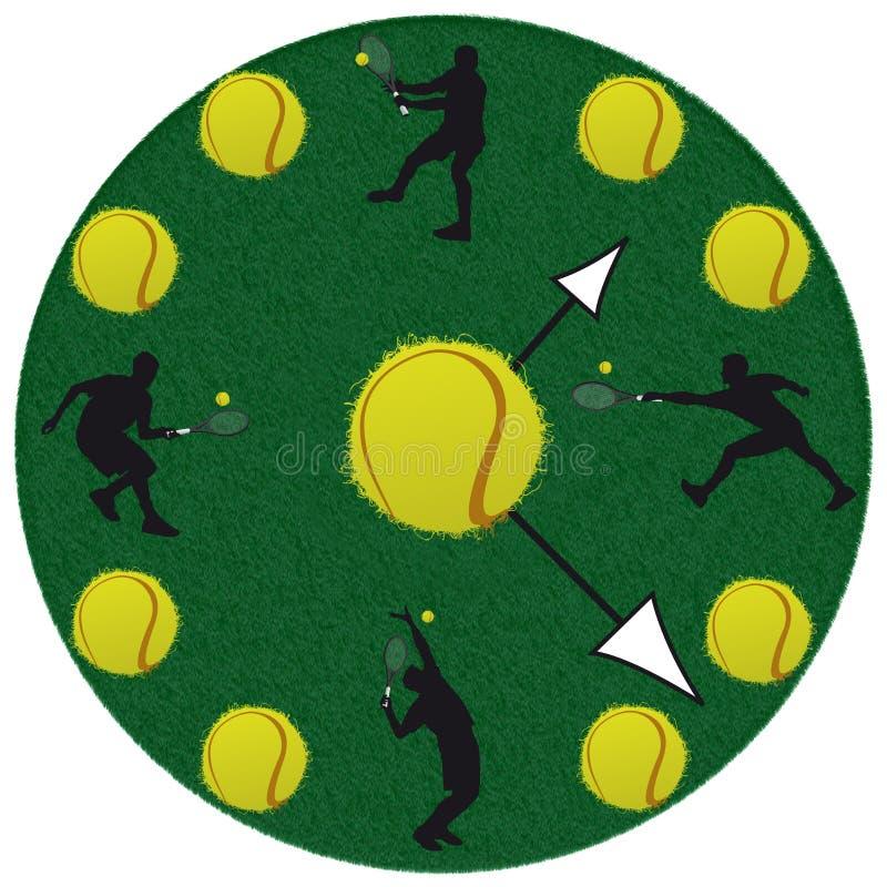 Вахта тенниса в белой предпосылке иллюстрация штока