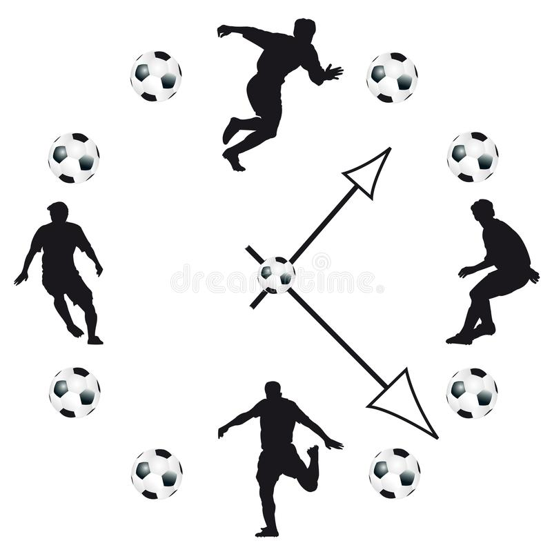 Вахта футбола в белой предпосылке иллюстрация штока